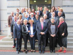 Die Ratsversammlung des Deutschen Pflegerats mit dem neuen Präsidium